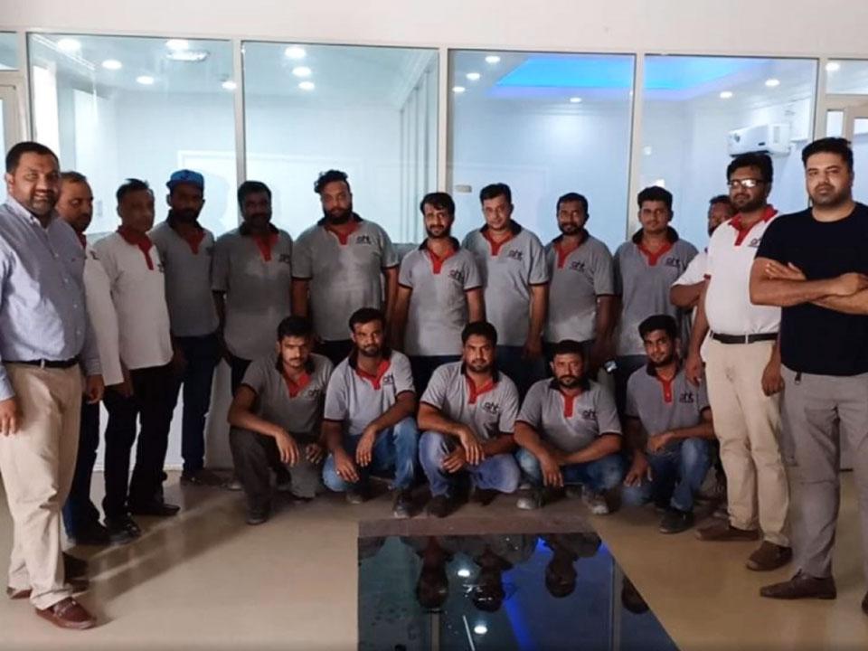 Waterproofing team at AHT